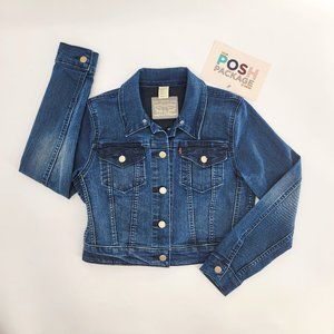 Levis Strauss & Co Button Up Cropped Jean Jacket